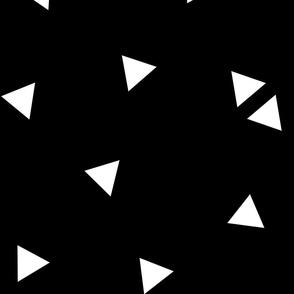 triangle confetti white black :: fruity fun huge
