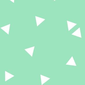 triangle confetti mint green :: fruity fun huge