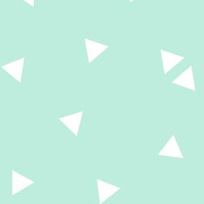 triangle confetti light teal :: fruity fun huge