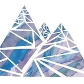 Geometric Watercolor Mountain