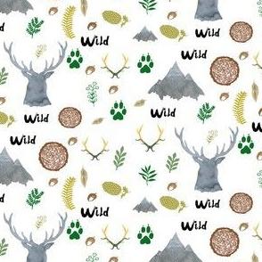 Woodland Watercolor Deer