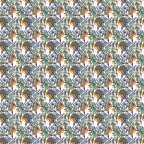 Floral Australian Shepherd portraits - small