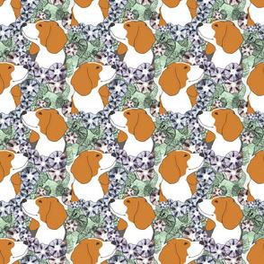 Floral Beagle portraits