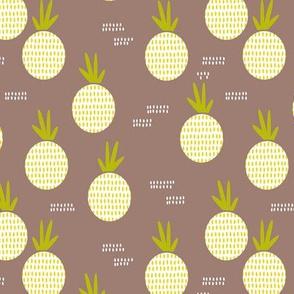 Retro round pineapple fruit kitchen pastel Scandinavian style summer design gender neutral lime MEDIUM