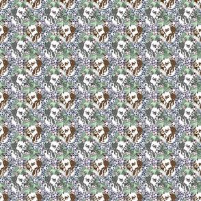 Floral Dalmatian portraits - small