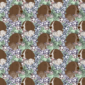 Floral German shorthaired Pointer portraits