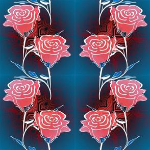 Square Diamond Small Roses