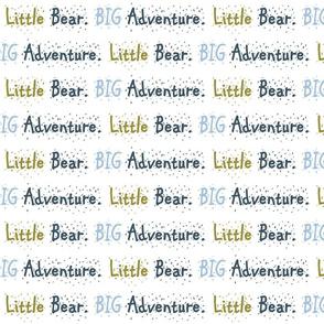 Bear Trail // Little Bear Big Adventure