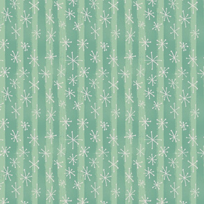 Vintage Holiday Sparkles - Teal Green