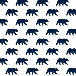navy bear on white || the northern lights collection