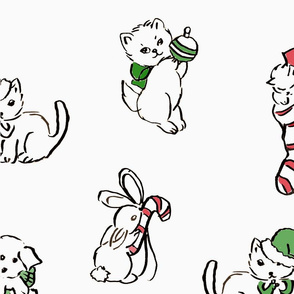 vintage christmas animals