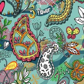 Paisley pop art