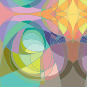 Nouveau Abstract Art Colour Wheel