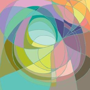 Nouveau Abstract Art Colour Wheel