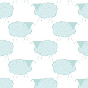Sheep in Pastel Greens