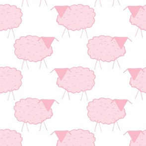 Sheep in Pastel Pinks