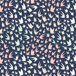 Swirling Sky - Swallows - Birds in flight