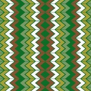 Green Brown White Chevron