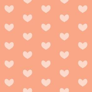 peach heart on peach