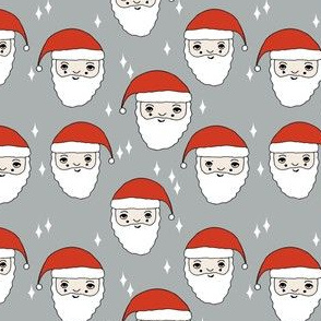 santa // father christmas papa noel pere noel santa claus kids cute illustration christmas fabric