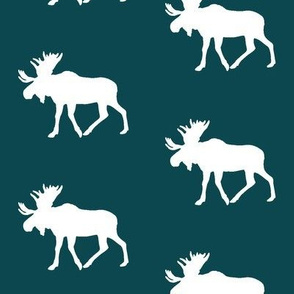 moose on dark teal    the yellowstone collection