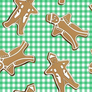 Gingerbread Men Gingham