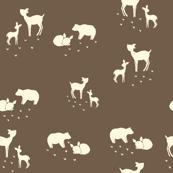 Woodland Animals Brown