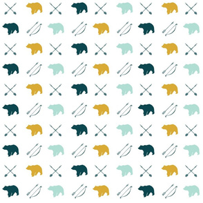 bear and arrows    the yellowstone collection