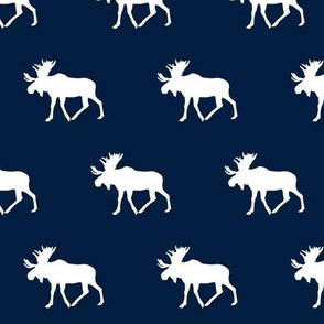 moose (small scale) || white on navy