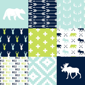 Bear creek patchwork || buck print