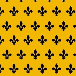 Wizard School Badger Fleur-de-Lis Pattern
