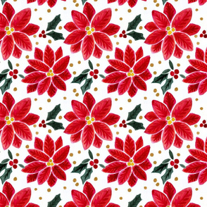 Poinsettia_Gold_Dots-Pattern