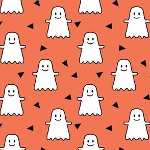 halloween ghost ghosties kids girls sweet halloween emoji cute halloween orange
