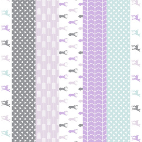 1 yard - girl woodland (purple and blue) 90 || lilac grove collection
