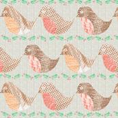 christmas robins with holly