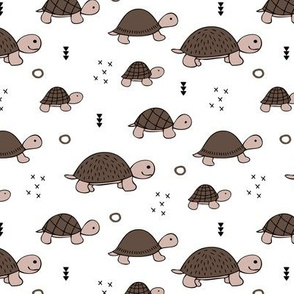 Cute baby turtle pura vida animals collection turtles  tortoise  illustration for kids gender neutral fall