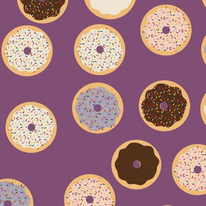 Donuts on Purple