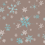 snowflakes on soft brown