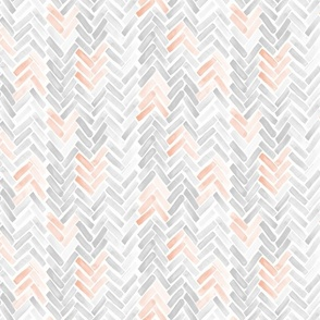 gray blush watercolor herringbone
