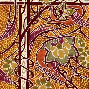 Autumn Leaves Mosaic Tile Style