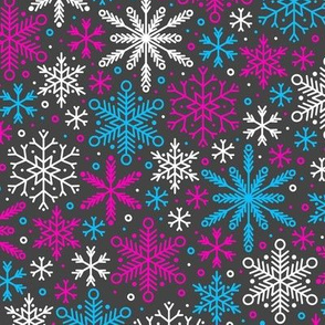 Season of Snow (Pink and Blue Dark)