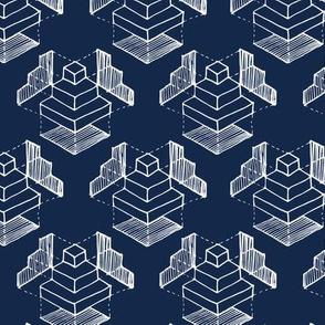 Geometry: Deep Blue Bg