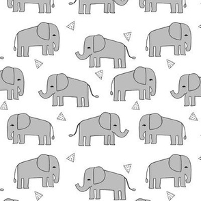 elephant // grey and mint kids nursery baby grey baby print