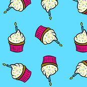 Birthday Cupcakes Blue