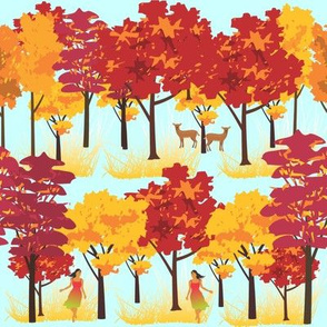 Walk in the fall forest