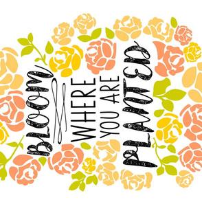 Bloom Tea Towel - Sunshine