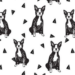 boston terriers // cute dog dogs sweet sketch dogs black and white terriers