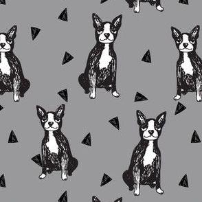 boston terrier // sketch hand-drawn illustration dog cute dogs pet dog fabric