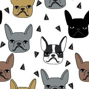 frenchie // cute french bulldog illustration french bulldog dog breed fabric
