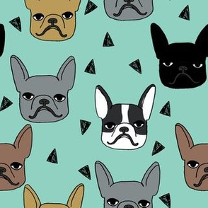 frenchie // mint french bulldog dog dog breed fabric cute dog pet dogs fabric